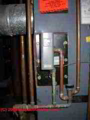 Tankless coil on a steam boiler