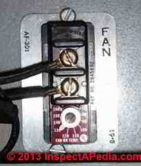 Therm-O-Disc Fan Limit Control Switch (C) InspectAPedia RE