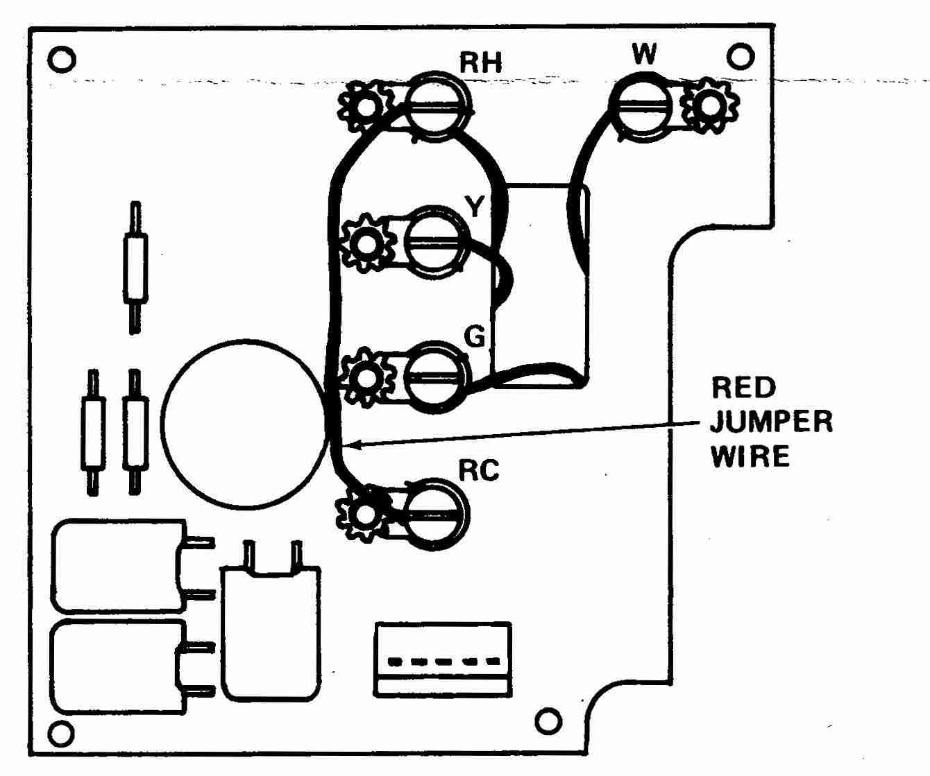White Rodgers 4-Wire 1F90 Thermostat wiring diagram