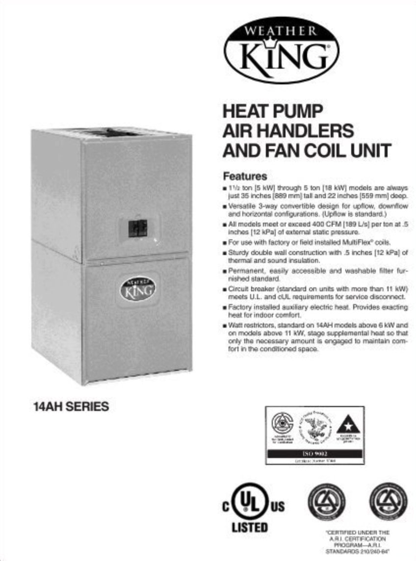 Weatherking Hvac Age Manuals Parts