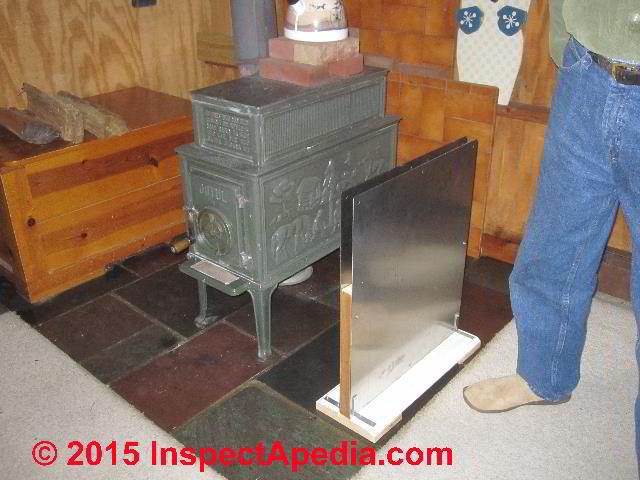 Wood Stove Heat Shields Fire Clearance Distance Reduction Using Heat Shields