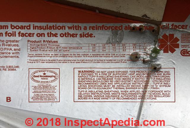 Celotex Tuff R Polyisocyanurate Foam Board Insulation In A 1990 Home The U S