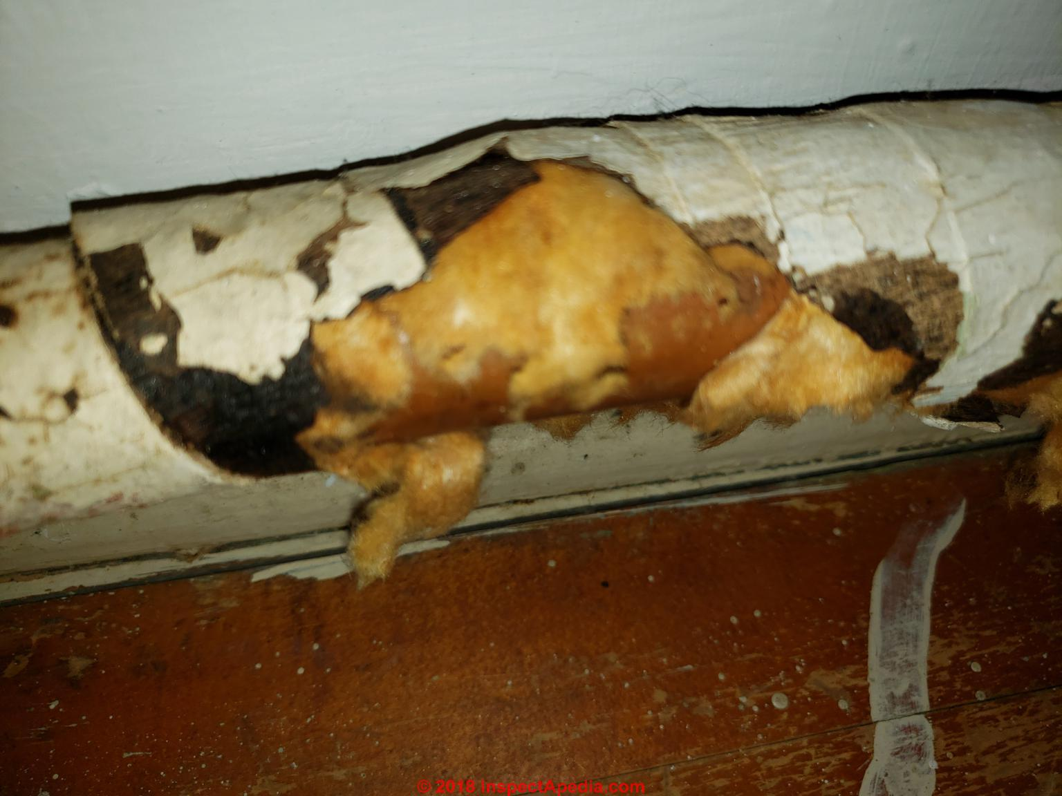 Asbestos Pipe Insulation FAQs Q&A on asbestos insulation on