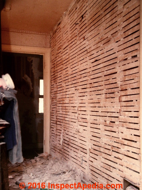 Wood Lath Plaster Demolition C Daniel Friedman