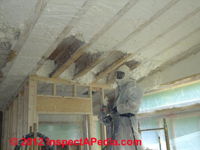 Spray Foam Roof D Friedman At Inspectapedia