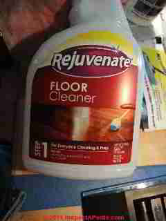 Floor rejuvenator cleaner (C) D Friedman