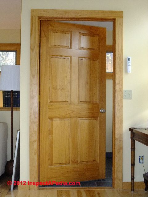 Stain grade interior doors Solid wood six panel interior doors