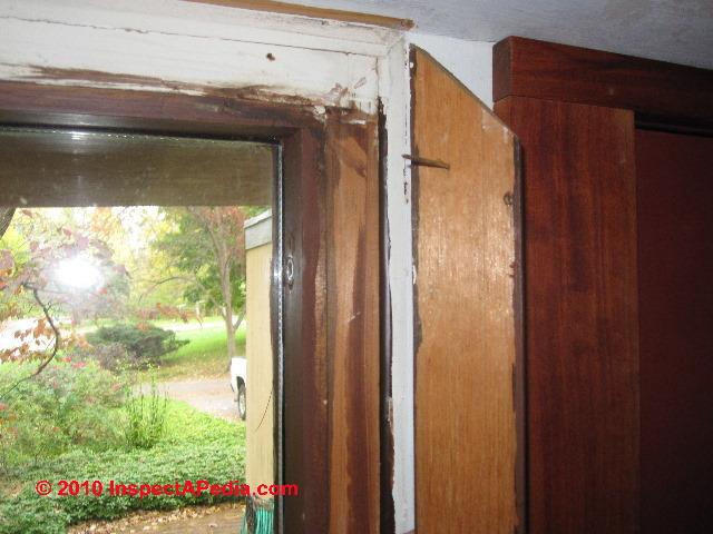 Fixing window door air leaks air sealing procedure for Clamshell door casing
