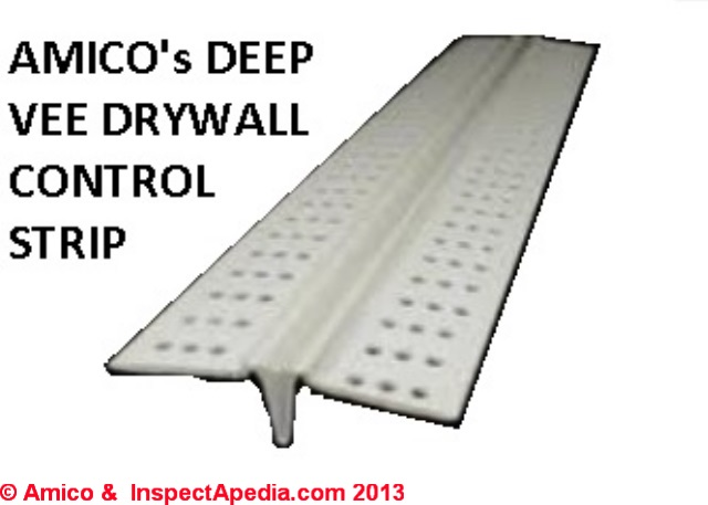 Drywall Expansion Joints: Use drywall control joints or