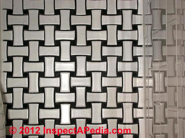 Ceramic Mosaic Bathroom Floor Tile (C) D Friedman