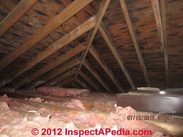 Inspect the attic or roof cavity for signs of an ice dam for Roof leaking in winter