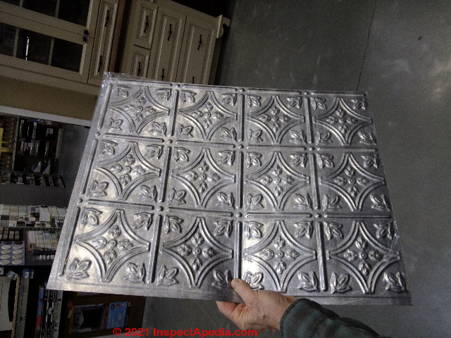 Aluminum Or Tin Ceilings Pressed Tin Or Embossed Tin Or
