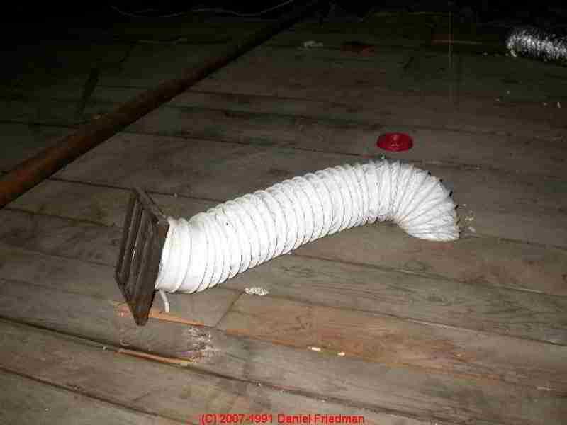 Bathroom vent fan duct materials: flex duct vs solid metal. Vent fan  spilling into attic ...