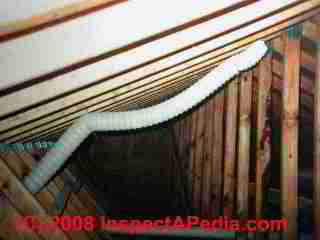 Droopy attic ducting of a bath fan (C) Daniel Friedman