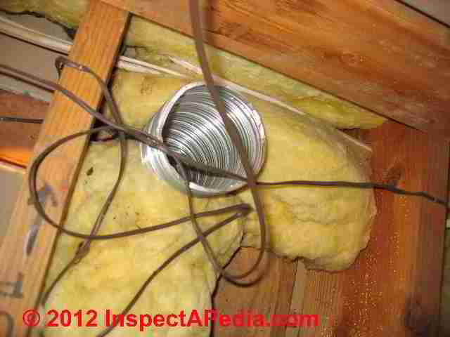 Bathroom Vent Fan Codes Installation Inspection Repairs - Installing roof vent for bathroom exhaust fan
