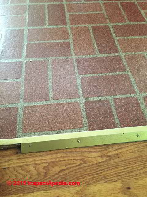 Red Brick Pattern Flooring Without Asbestos C Inspectapedia Pc Floor Tile