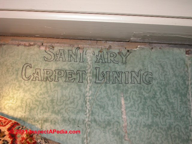 Asbestos Asbestos Under Carpet