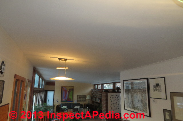 crack in plaster joints ceiling