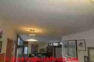 Long drywall ceiling without control joints cracked © Daniel Friedman
