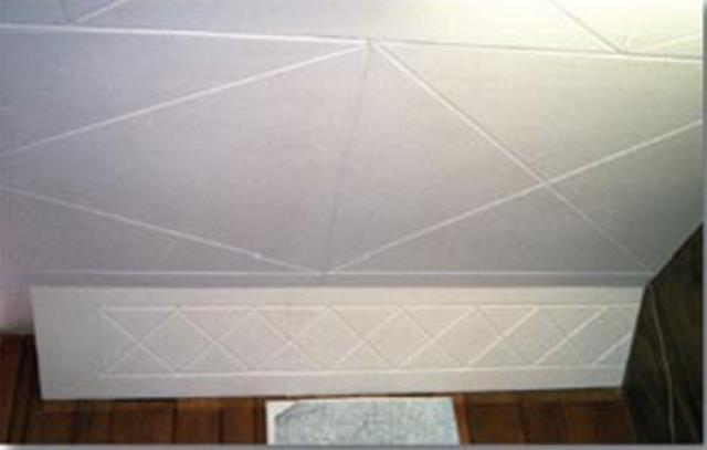 Fiberboard Ceiling Wall Panel Repair Amp Paint