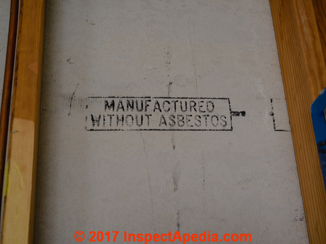 Floor framing details for tile flooring for Does gypsum board contain asbestos