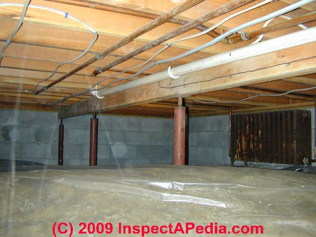 Crawl space moisture barrier placement guide Crawl space flooring