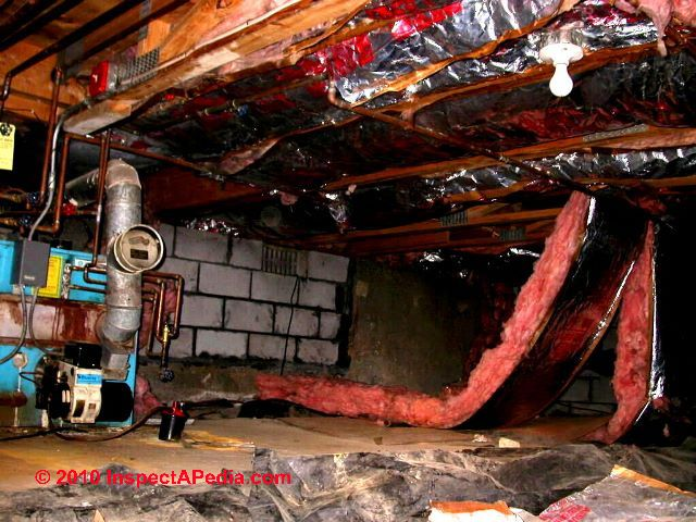 Vapor Barriers: Basement Ceiling/Wall Moisture Barrier