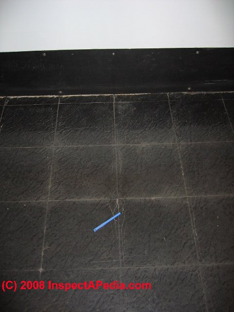 Asbestos Containing Floor Tile Adhesive Mastic Or Roofing Sealant