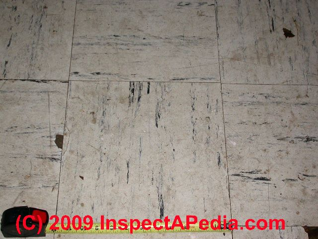 how to identify asbestos floor tiles or asbestos-containing sheet