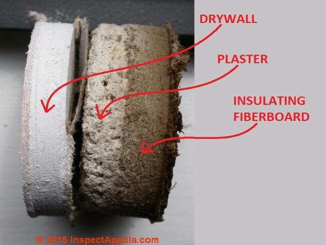 Lath and plaster ceilings asbestos for Gypsum board asbestos