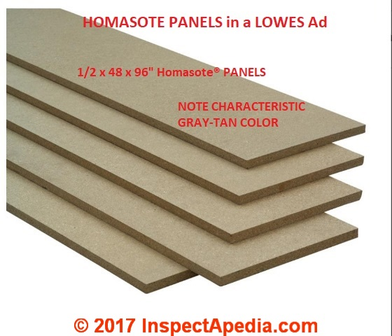 Homasote fiber board history composition identification for Fiberboard roof sheathing