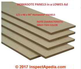 Homasote 174 Fiber Board History Composition Identification