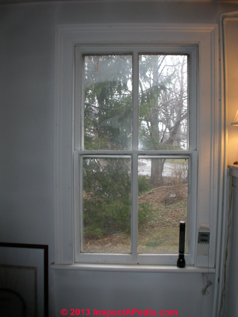 Antique Window That Woudl Benefit From An Interior Storm (C) Daniel Friedman