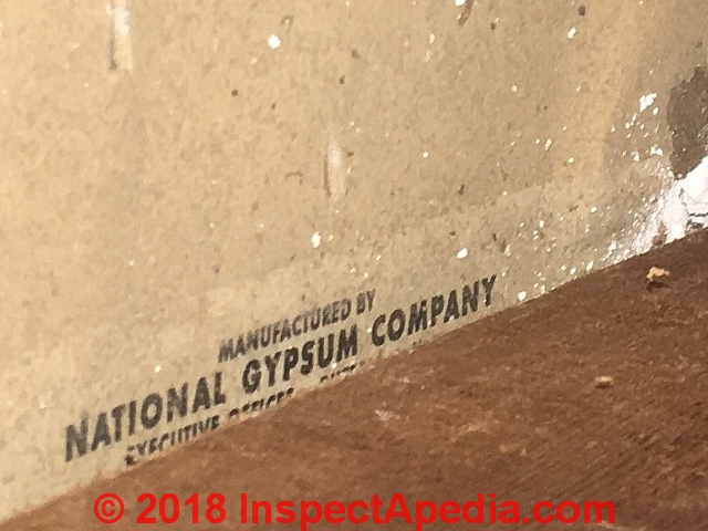 Asbestos Drywall Board ~ Interior wall coverings finishes how to identify types