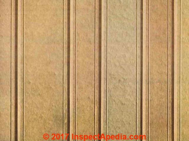 Nu-Wood Fiberboard Identification