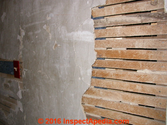 Lath And Plaster : Types of wood lath used for plaster or stucco