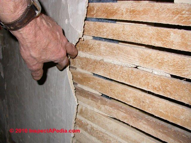 Loose plaster ceiling wall hazards falling plaster for Gypsum board asbestos