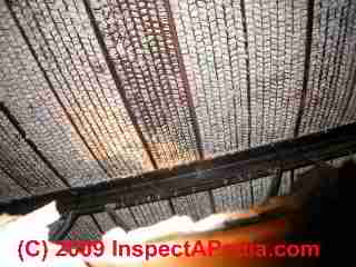 Expanded metal lath exposed (C) Daniel Friedman