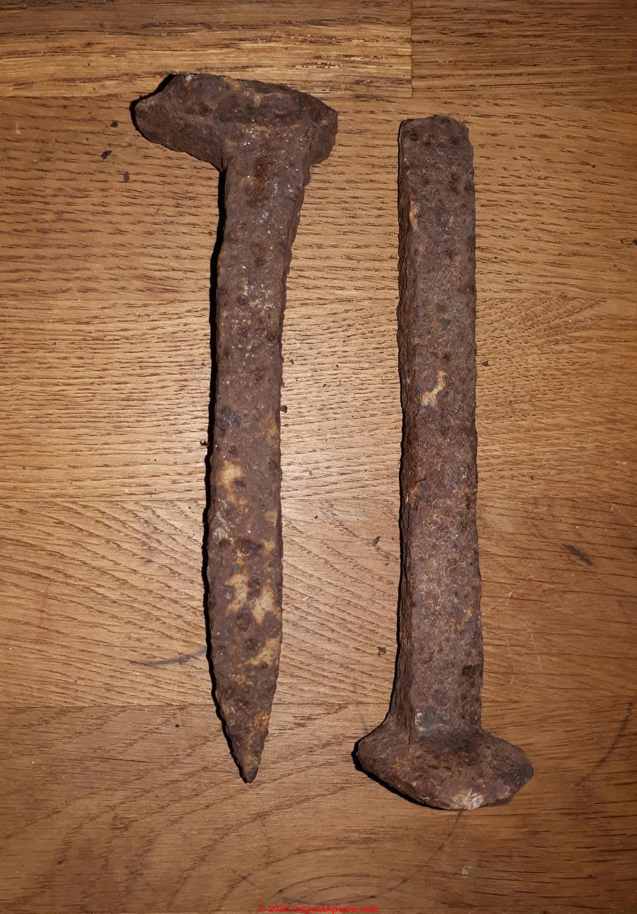 with Certificate of where was found. The Last Spike Three Rusty Old Railroad Spikes