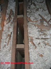 Mineral wool insulation in an attic