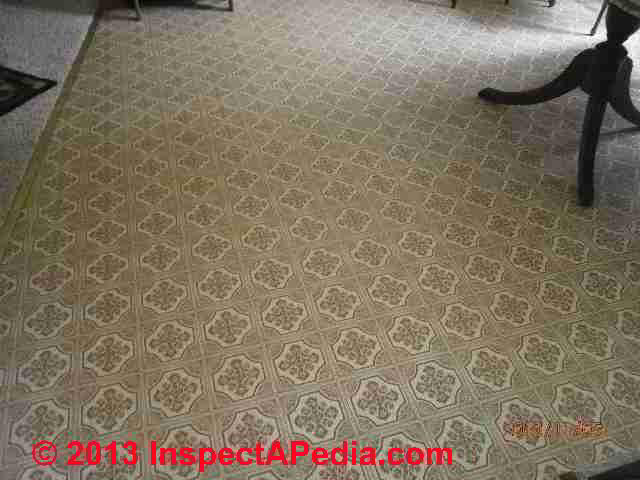Resilient Sheet Flooring Dated 1986 (C) InspectApedia ...
