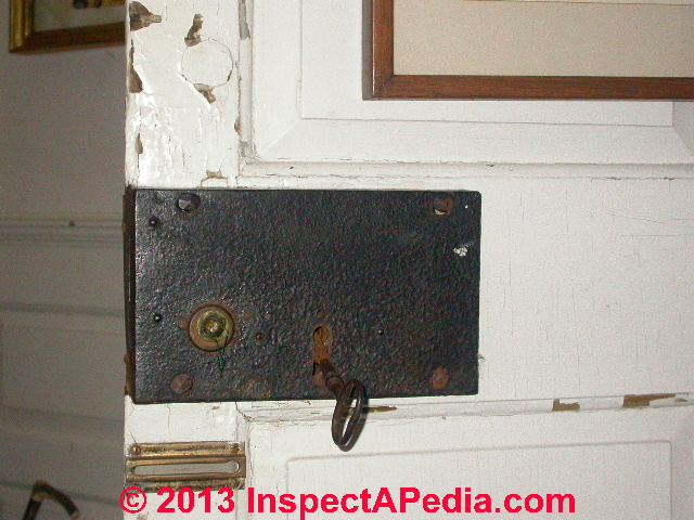Antique Door Locks door age: door locks, knobs, hinges hardware as indicators of