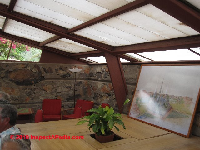 Ambient Lighting Thorugh Translucent Roofing Taliesin West Scottsdale C Daniel Friedman