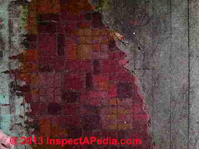 Reader Question Does This Red Brick Linoleum Sheet Flooring Contain Asbestos