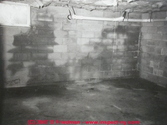 Wet basement diagnosis cure how to inspect for basement - Sealing exterior cinder block walls ...