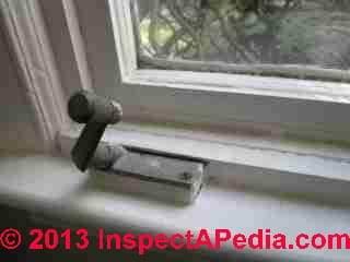 Window crank, casement ca 1970, Haddonfield New Jersey © Daniel Friedman