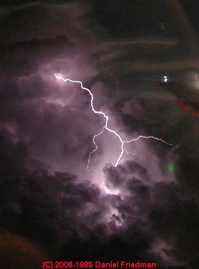 What happens? Lightning strike