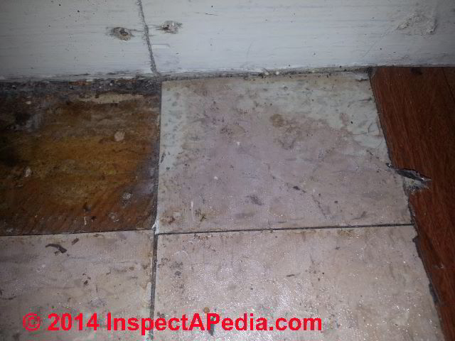 Bon Apartment Mold Study Photos Include Signs Of Leak History (C) InspectApedia  DC