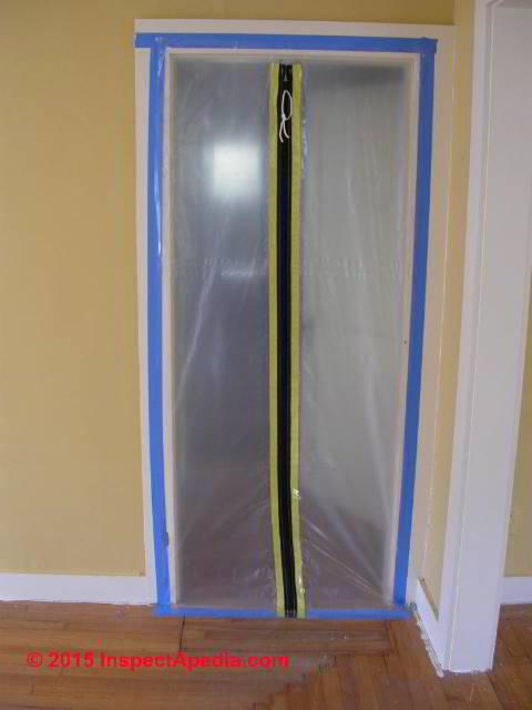 Mold Containment At Doorway C Daniel Friedman