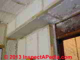 Plumbing chase after foam insulation (C) Daniel Friedman Eric Galow Galow Homes